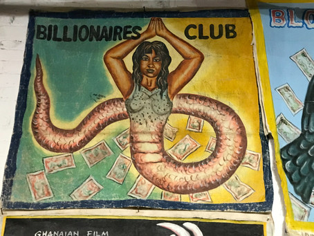 Love these hand paintedGhanian movie banners, on showat superchief gallery...