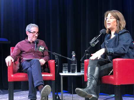 Douglas Rushkoff in conversation with Naomi Klein,    for#teamhuman at the Greene Space, tonite...
