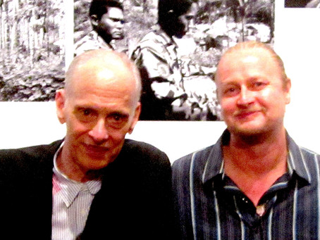Me and my old chum John Waters at Powerhouse Arena last nite.... 