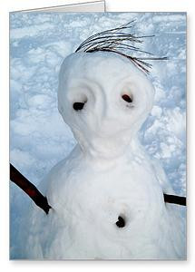 """The Snowmen of New York City"" Greeting cards now available at St Mark's Books"