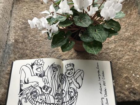 Sketching at the Met Cloisters..
