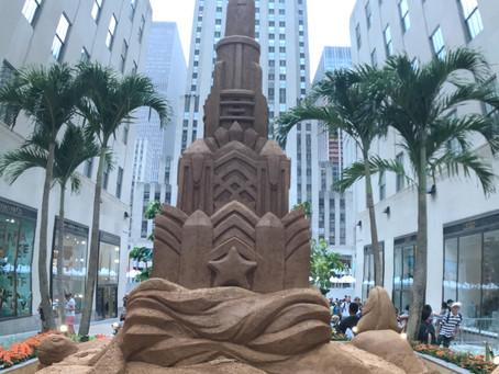 Sand castles at RockefellerCenter...