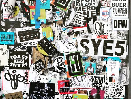 Stickers, Metropolitan Ave, Brooklyn...