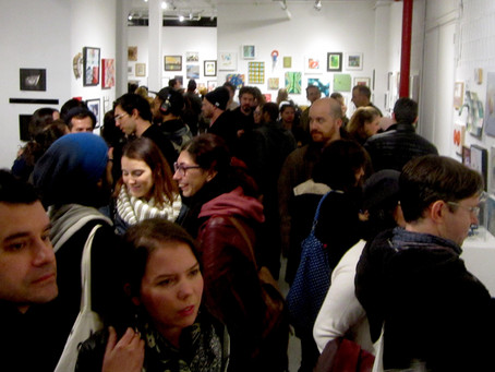 A great crowd for the group show at the ‪‎Lorimoto Gallery‬...