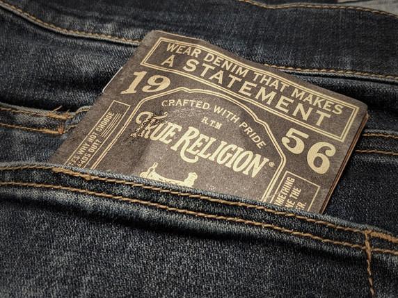 True Religion Booklet Hang Tag
