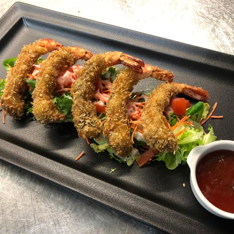 Scampis tempura