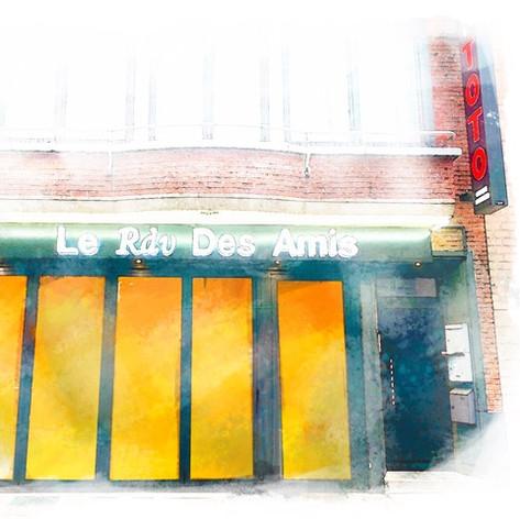 Le Rdv Des Amis en aquarelle