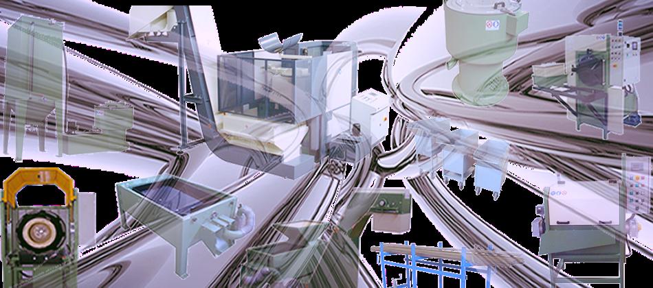 Centrifughe disoleatrici, macchine ed impianti per il lavaggio e la finitura delle pezzi metallici