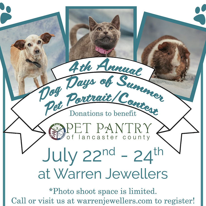 4th Annual Dog Days of Summer Pet Photo Contest