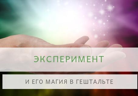 ЭКСПЕРИМЕНТ                                                       В ГЕШТАЛЬТ-ТЕРАПИИ
