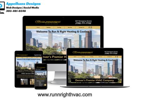 Web Design in Aurora, Colorado: Run N Right Heating & Cooling
