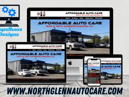 Web Design in Northglenn, Colorado: Affordable Auto Care LLC