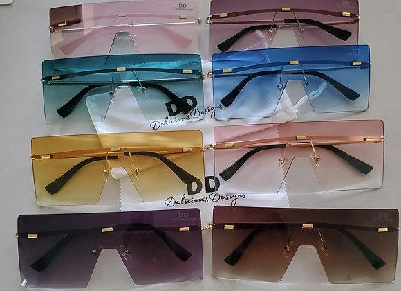 Fashion Designer Big Square Sunglasses