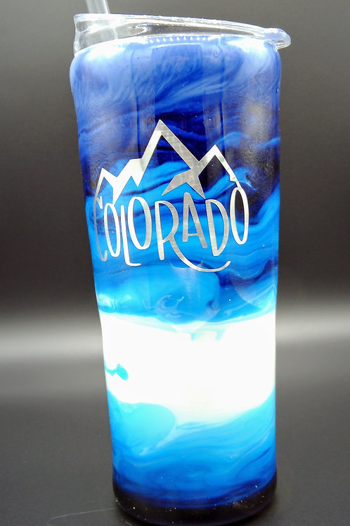 Colorado Two Sided Color Cup with Straw
