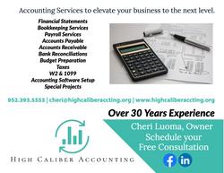 High Caliber Accounting Postcard
