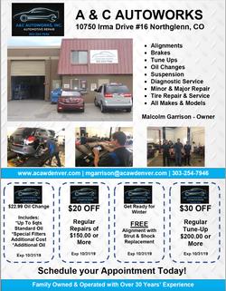 A&C Autoworks Flyer