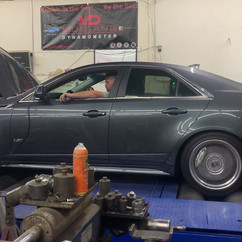 Grey Cadillac Dyno