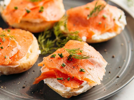 Recipe: Bruna's Cheese Bread Smoked Salmon and Cream cheese sandwich
