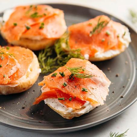 Recipe: Bruna's Cheese Bread Smoked Salmon and Cream cheese sandwich