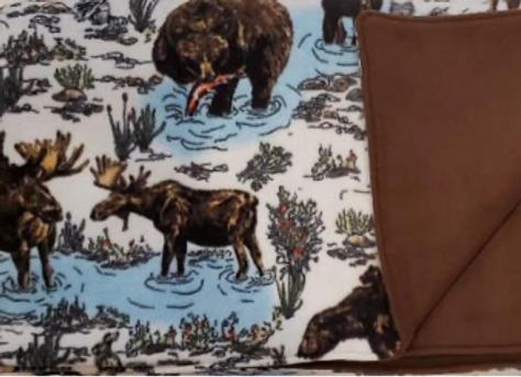 Sketched Animals Anti Pill Plush Fleece Blanket