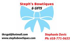 Steph's Bowtiques Business Card