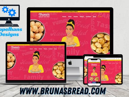 Web Design in Aurora, Colorado: Bruna's Cheese Bread