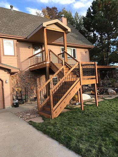 Wood Decking with Stairs Sage Creek Decks