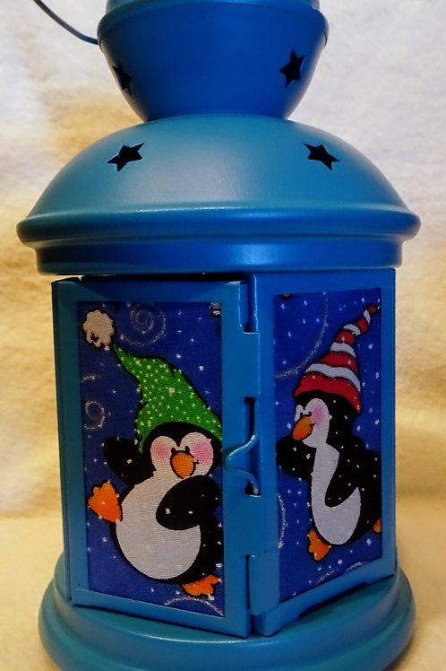 Christmas Penguins Lantern
