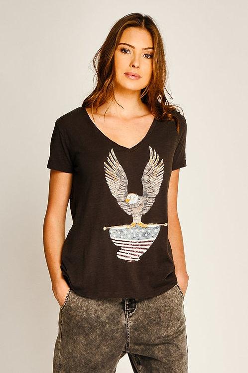 Tee shirt aigle black Five