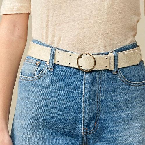ceinture crème façon poulain Bellerose