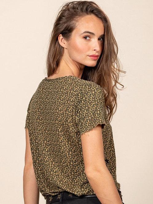 Tee shirt en lin léopard Five