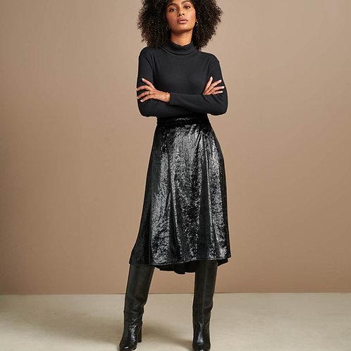 jupe noir shinny bellerose