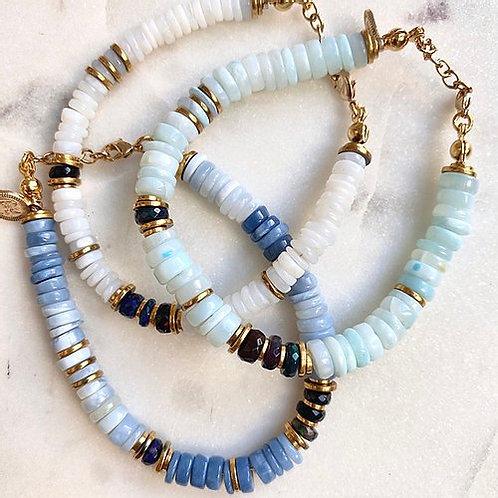 Trilogie de bracelets opale Pearl Karma