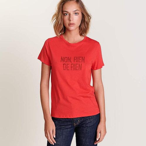 t-shirt piaf rouge