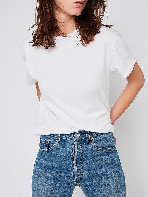 t-shirt blanc unisexe used