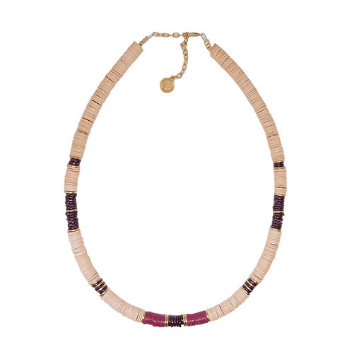 collier bombay nude purple
