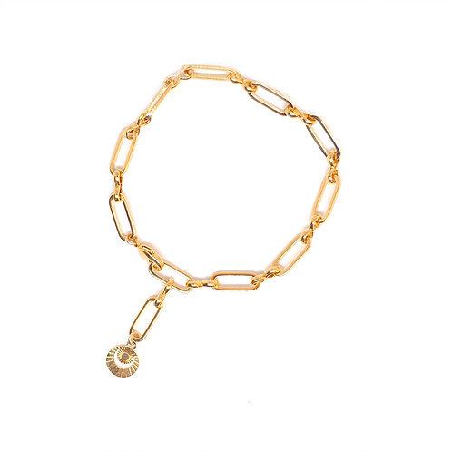 bracelet golden moon pearl karma