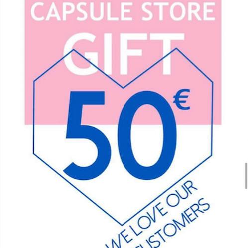 carte cadeau 50€ capsule store
