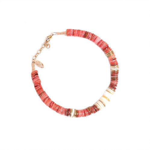 bracelet surfer shell pink pearl karma
