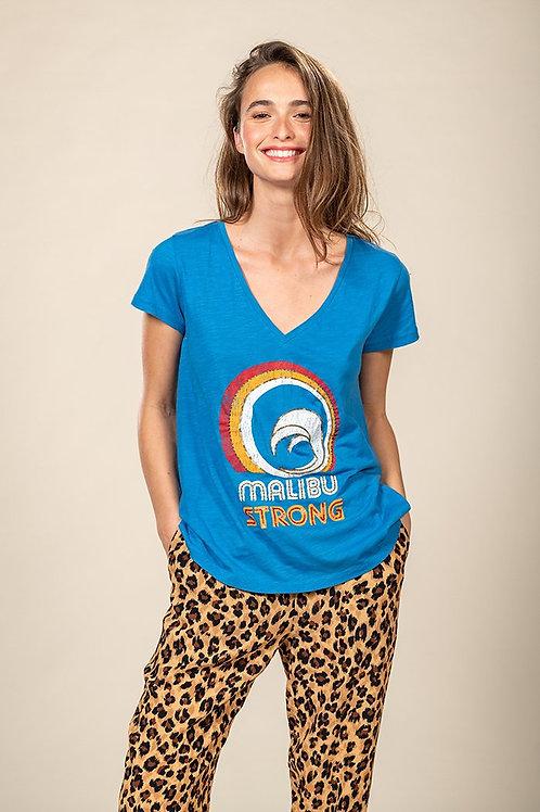 Tee shirt malibu strong azur Five