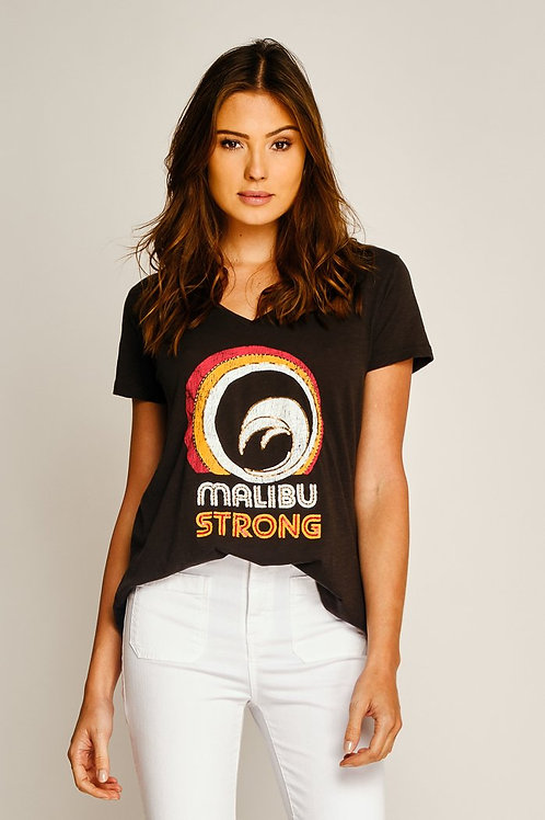 Tee shirt malibu strong black five