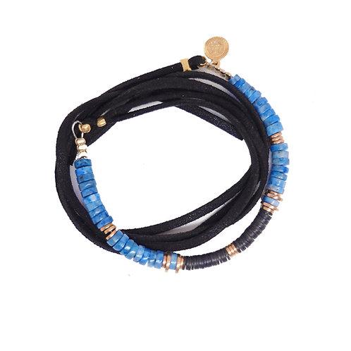 bracelet/collier surfer lima lapis