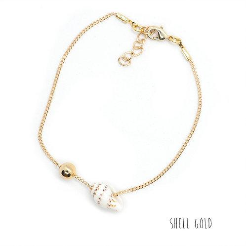 bracelet shell gold pearl karma