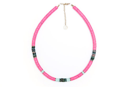 collier surfer kelly pink pearl karma