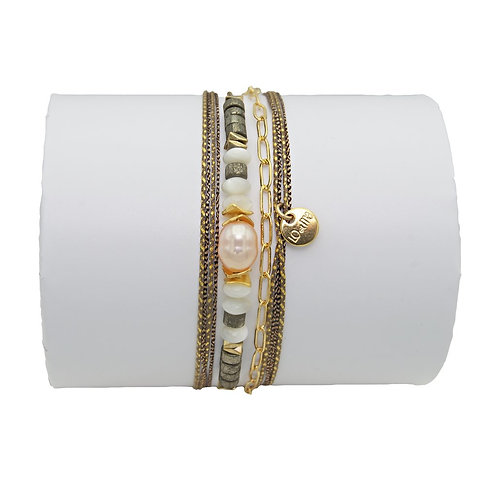 bracelet rose nacre Loetma