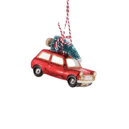 décoration de noël voiture