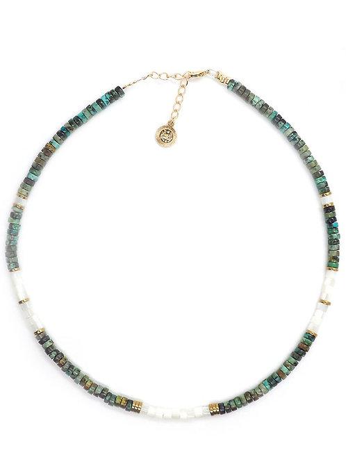collier bali nacre et turquoises Pearl Karma
