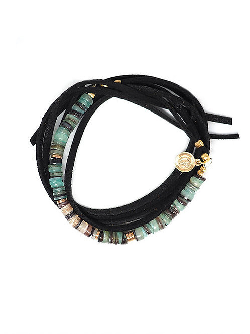 bracelet/collier surfer ice pearl karma