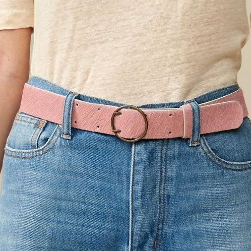 ceinture rose façon poulain Bellerose