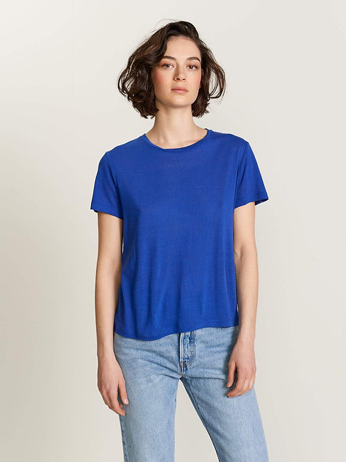 t-shirt en soie bleu klein Bellerose